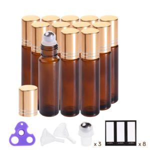 Leere Flaschen für ätherische Öle mit Roller und Zubehör
