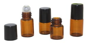 Ätherische Öle leere Flaschen mit Roller